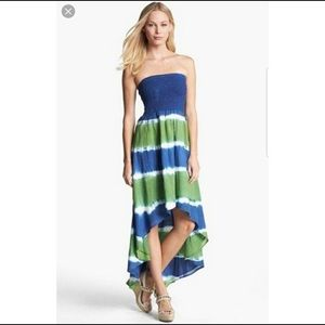 MICHAEL Michael Kors Blue/Green High Low Dress